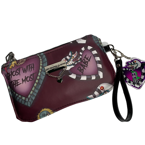 Plum Say My Name Glamour Wristlet - Faux Leather