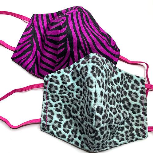 Blue Cheetah/Purple Zebra Print