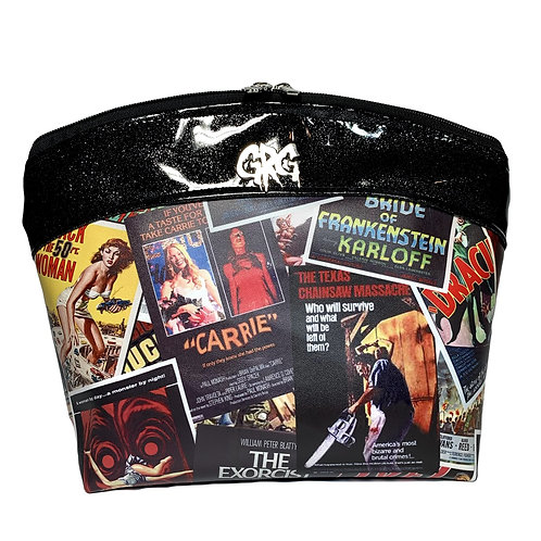 Horror Cult Movie Posters Makeup Bag Large - Faux Leather