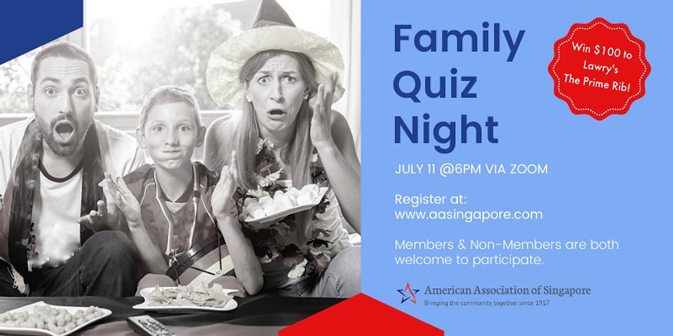 Family Quiz Night: Online Zoom