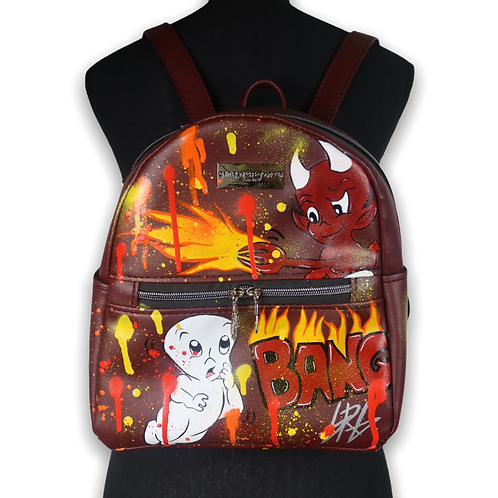 Hand Painted Mini Backpack