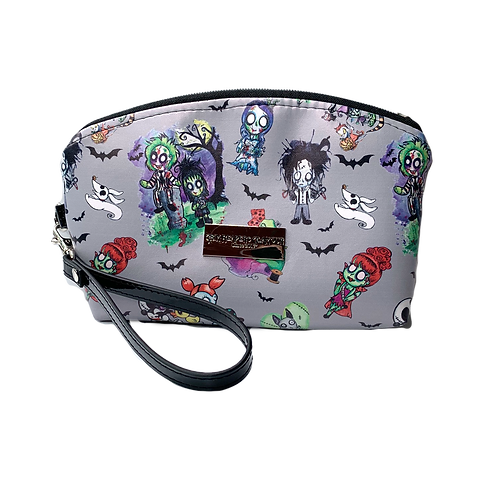 Spooky Friends Faux Leather/ Glow In The Dark Zipper