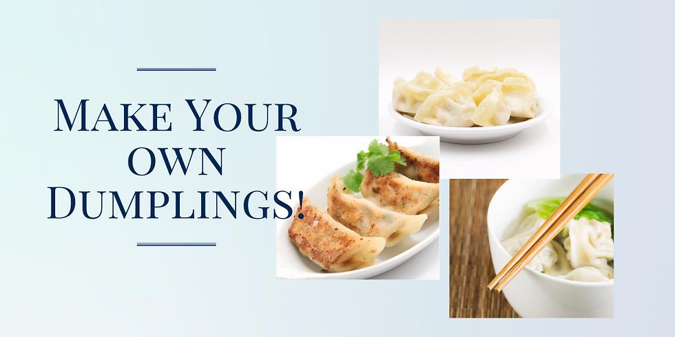 Cooking Class: Make your own dumplings!