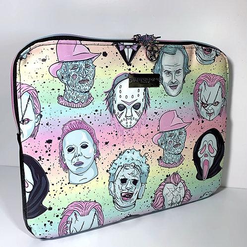 Pastel Horror Boys Faux Leather Laptop Case