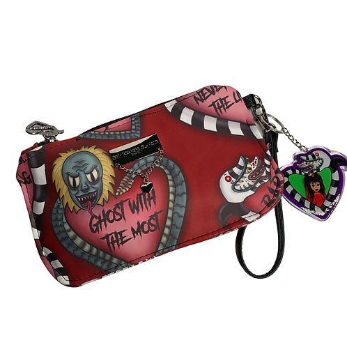 Cherry Say My Name Glamour Wristlet - Faux Leather