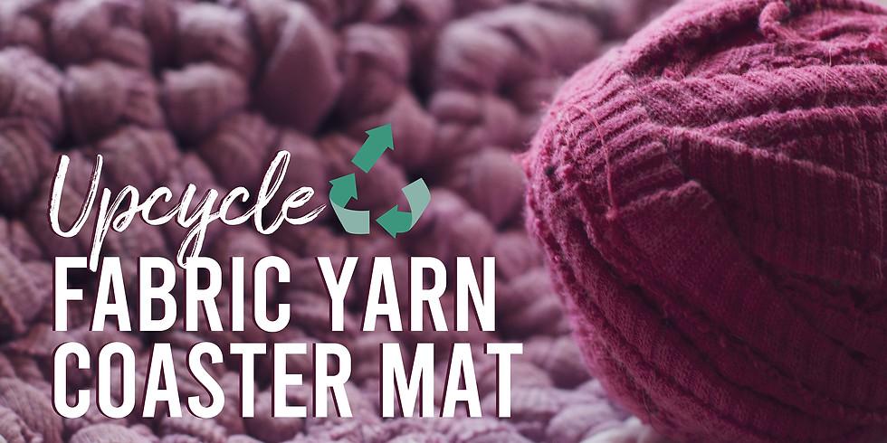 Upcycle Fabric Yarn Coaster Mat