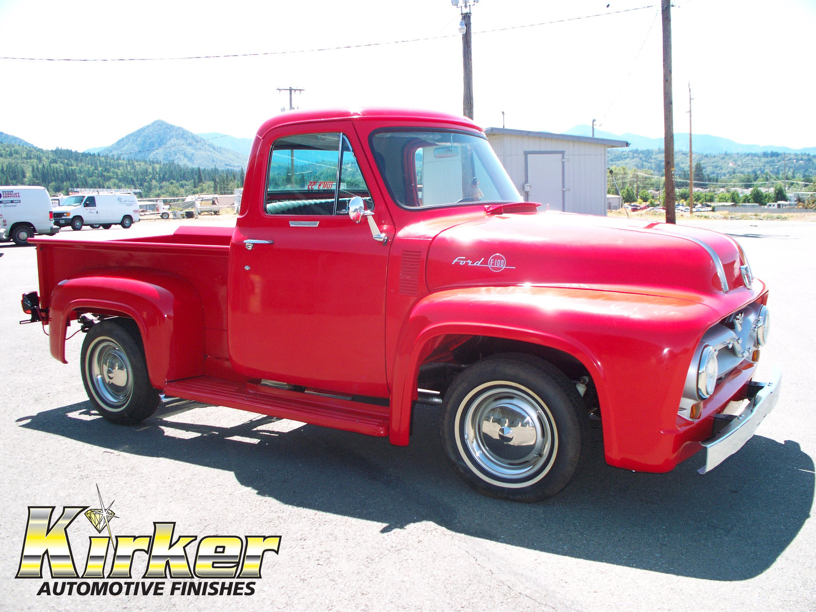 Kirker Automotive Finishes Refinish Materials Newburgh Ny Usa 1955 Ford F100 Stepside Pickup Viper Red 51439