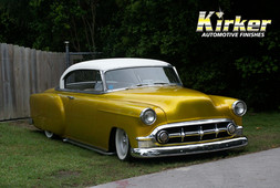 1953 Chevy BelAir Gold Rush Candy (UC40) over Quicksilver Metallic (UCB01)