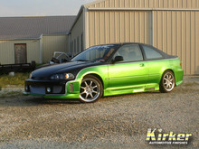 1994 Honda Civic Sour Apple Green Metallic (31250) and Super Jet Black (70330)
