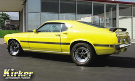 1969 Ford Mustang Mach 1 Viper Yellow (11105)
