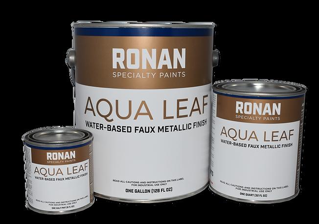 Aqua Leaf Gallon-Quart-Half Pint with sh