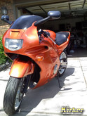 Honda CBR 600F2 Atomic Orange Candy  (UC30) over Quicksilver Metallic Base (UCB01)