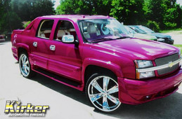 Chevy Avalanche Vivid Violet Candy (UC90) over Quicksilver Metallic Base (UCB01)