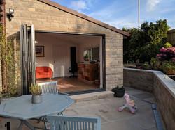 house extension doors open
