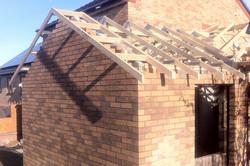 New roof installation in progress