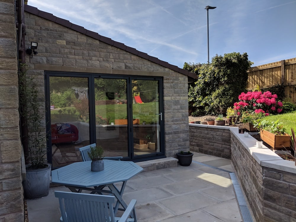 House extension with bi fold doors