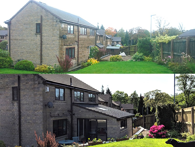 House extension before and after