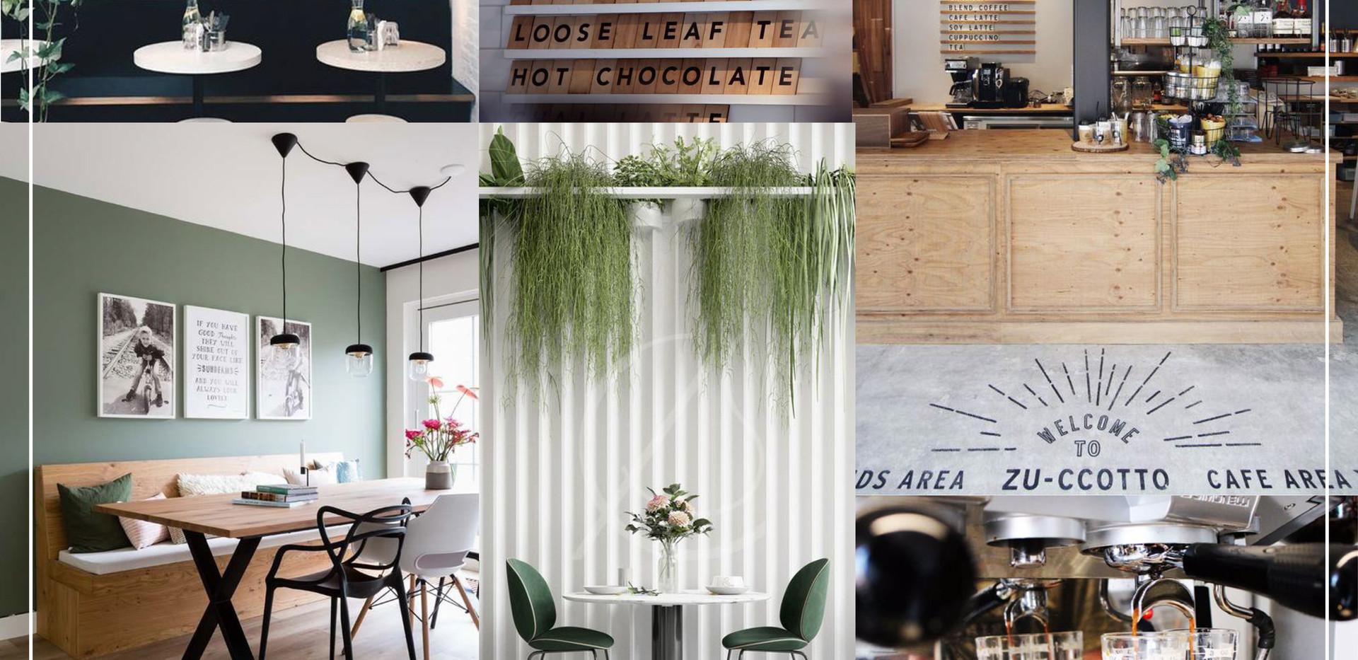 Coffee Shop Mood Board
