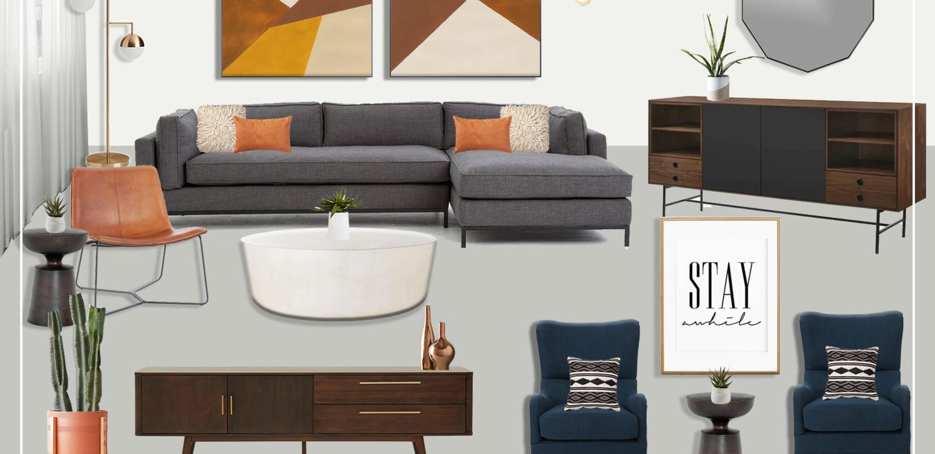 Living Room | Original Concept Collage