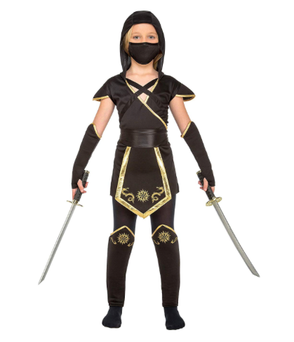 My Other Me Viving Costumes Costume de ninja pour fille Noir