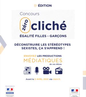 Concours Zéro Cliché Pour L'égalité Filles-Garçons