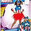 Thumbnail: Rubie's Officielle Captain America + Masque Filles Déguisement Marvel Superhero