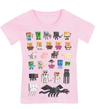 Minecraft T-Shirt à Manches Courtes Fille