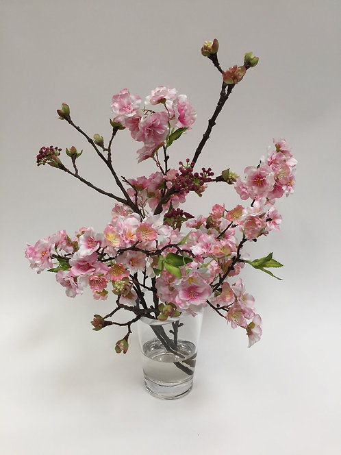 2849 Pink Cherry Blossom in glass 16x21