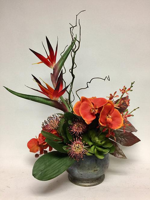 3089 Bird/Orchid in Spectrum Bowl 22x29