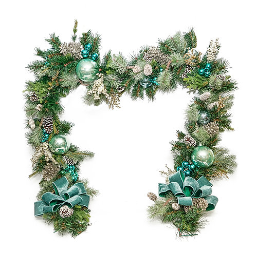 2896 9FT FROSTED BLUE GARLAND