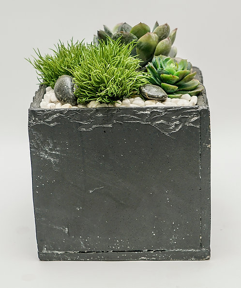 "3504 SLATE BLACK 6"" SUCCULENT POT"