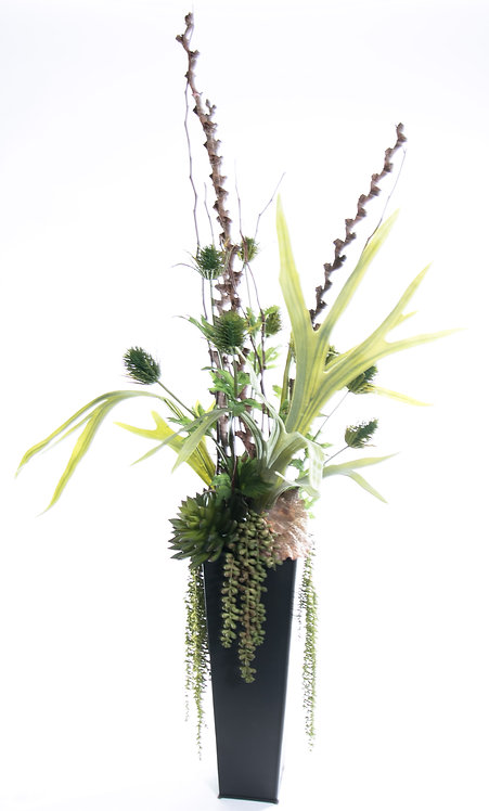 2691 Mixed Greens & Branches in Sm. Zinc 41x18