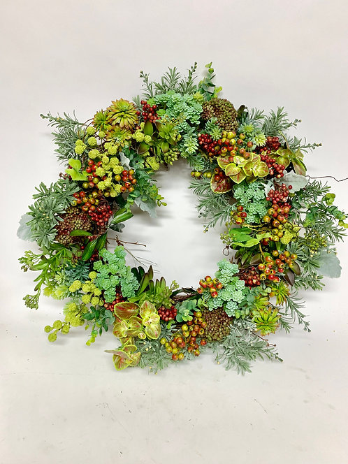 3212 BERRY WREATH 20""