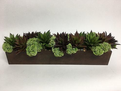 """3080 Succulent, Sedum Planter 8""""x26"""""""