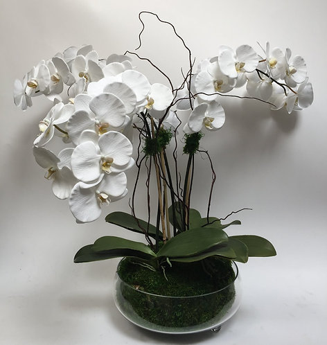 2584 Lg Orchid Bowl 33X34