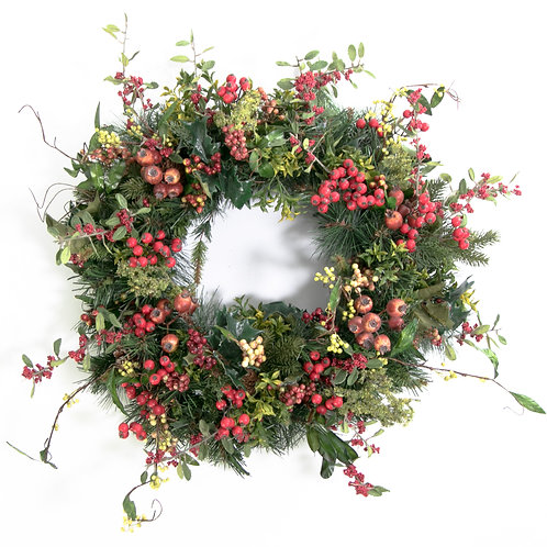 2794 Christmas Berry Wreath 24""