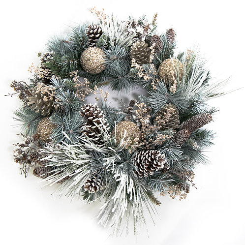 2798 Snow Wreath 24""