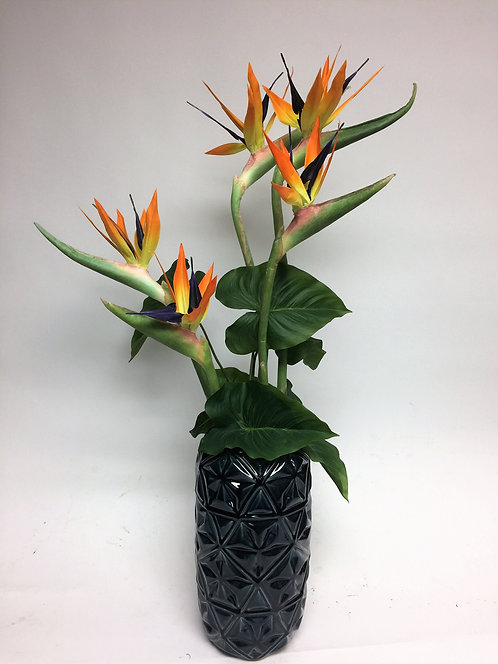 3090 Bird of Paradise in Blue Vase 21x39