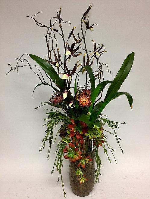 2940 Protea/Spider Orchid Vase 25x42
