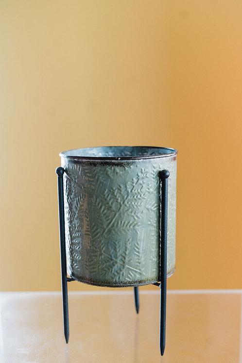 Leaf Pedestal Pot
