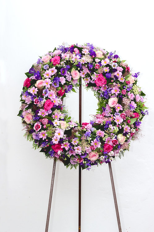 Wreath on an Easel