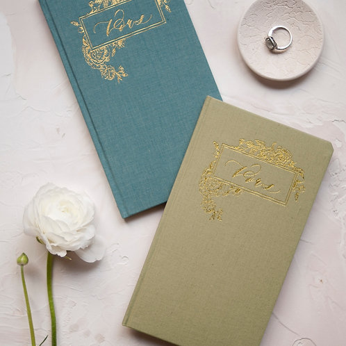Linen Covered Vow Books