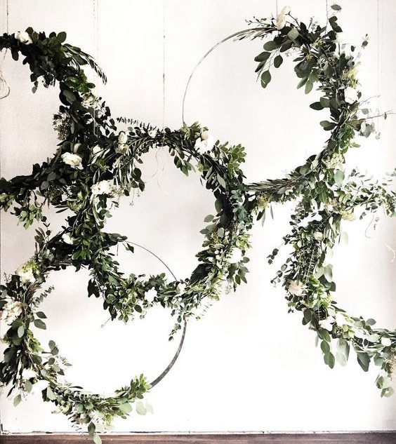 Faux Greenery Hoop Backdrop
