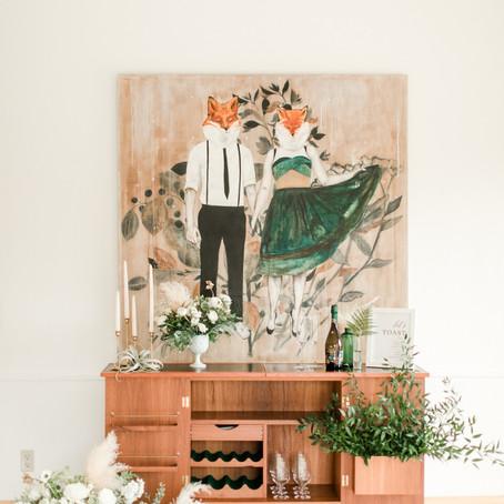 A Modern Art Boho Wedding