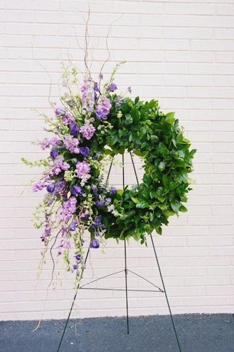 """Asymmetrical wreaths • 12"""" diameter center"""