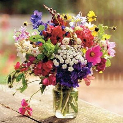 Wildflower Day Mason Jar Arrangement