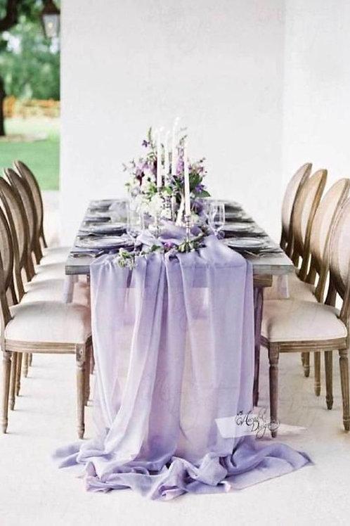 Purple Chiffon Table Runner ( Roll of Fabric)