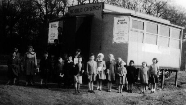 Corby Pentecostal Church mobile caravan May 1958