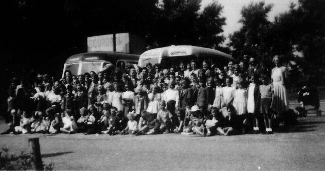 Corby Pentecostal Church Sunday aschool outing Wicksteed Park Kettering 1952