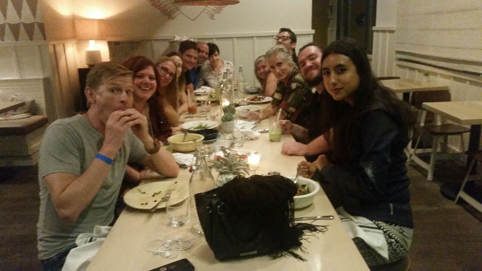 Channelers and Crew at Dinner